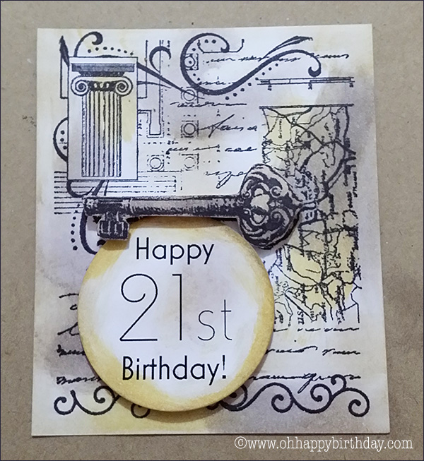 make 21st birthday card/Collage Birthday Card