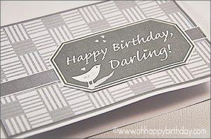 birthday cards for husband/Happy Birthday, Darling