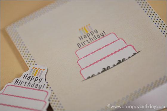 birthday cake/Digital Birthday Cake Card