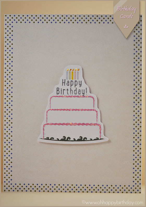 birthday cake card/Happy Birthday Card