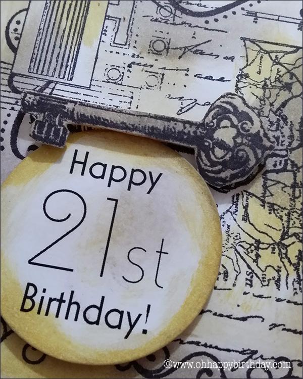 happy 21st birthday/Finished Birthday Card