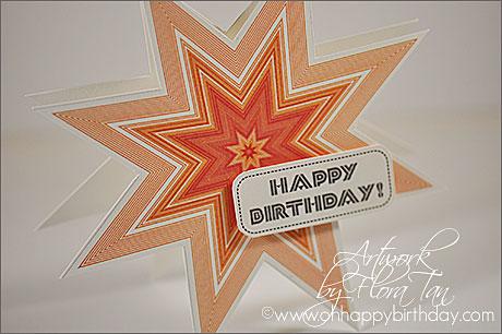 happy birthday card/8 Points Star Birthday Card
