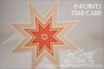 star shaped birthday card