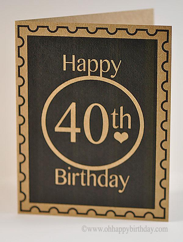 Simple Clean Look 40th Birthday Greetings