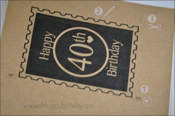 printable 40th birthday card