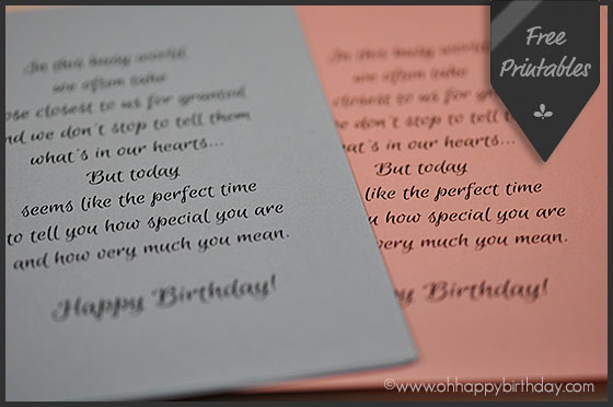 birthday card inserts