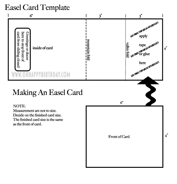 easel card template/Christmas Easel Card Template