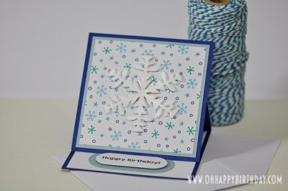 snowflake birthday card/Winter Blessings