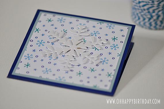 snowflake birthday card/Snowflake Birthday Card Closed Flat