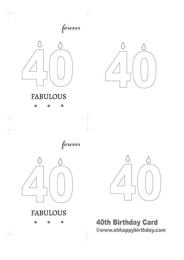 Fabulous 40th Birthday Card Oh Happy Birthday