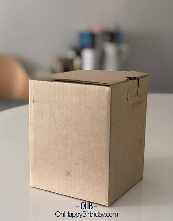 Birthday Gift in Plain Carton Box