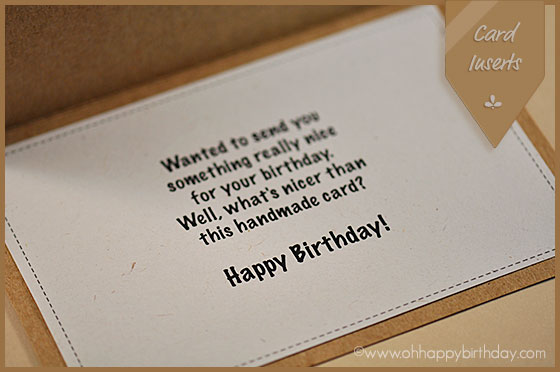 happybirthday card insert