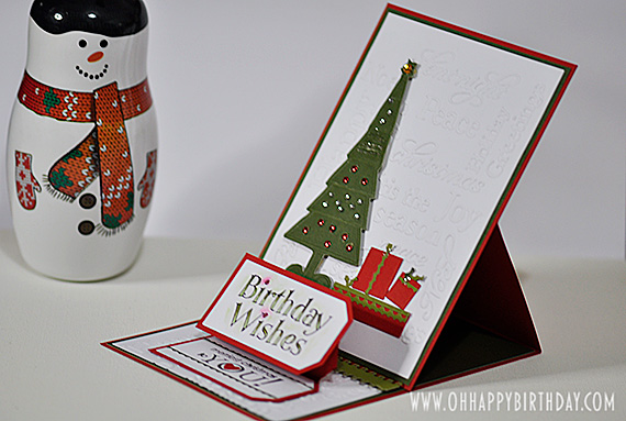 christmas birthday card/An Easel Card