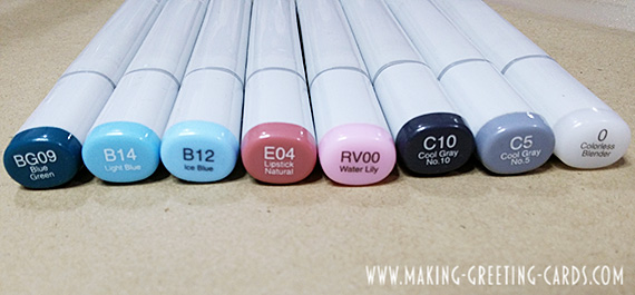 Copic Markers for Colouring Cupcake Card