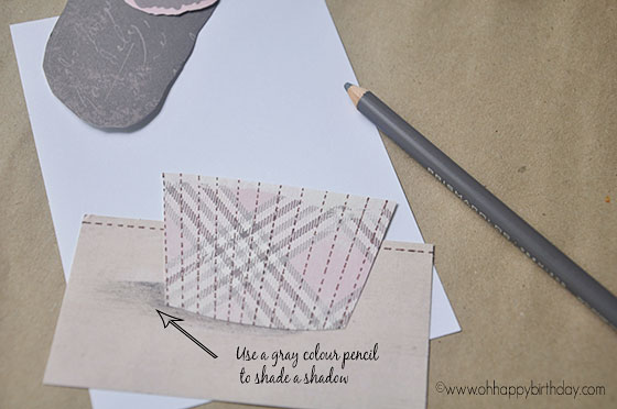 shading shadows under cupcake birthday card