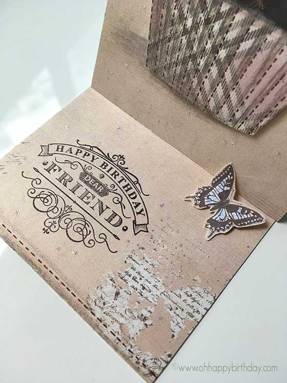 decorating the inside of easel card