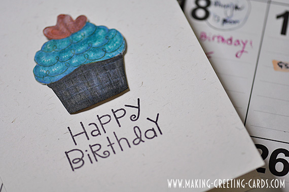 Cupcake Birthday Card - A Rubber Stamped Card