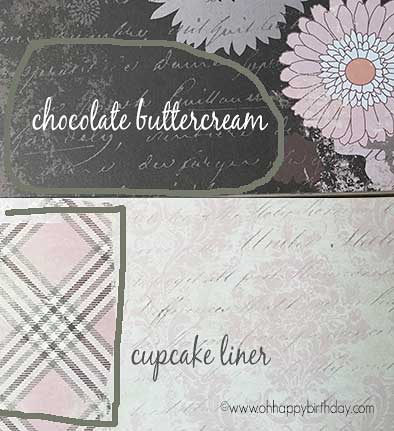 pattern paper for cupcake birthday card