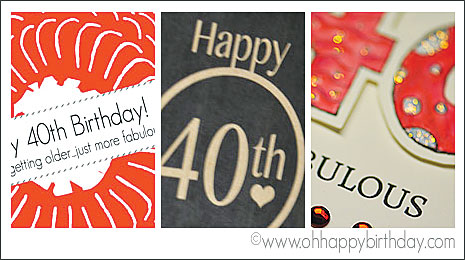 free happy 40th birthday cards at ohhappybirthday.com with templates and necessary clip arts for making birthday cards
