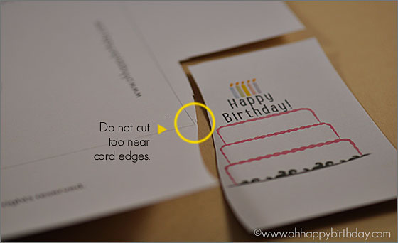 birthday cake card/Cut Birthday Cake