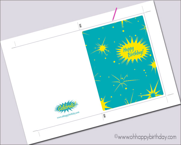Free printable birthday boy card to download and print.