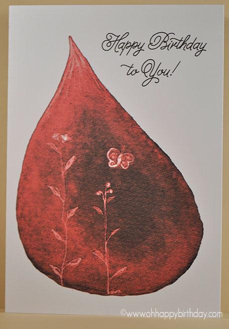 Spring Parcel Red Birthday Card