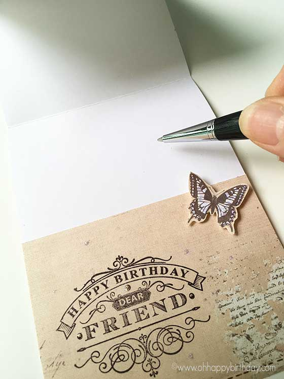 Send handwritten greetings with love - Hand -write your message inside the card