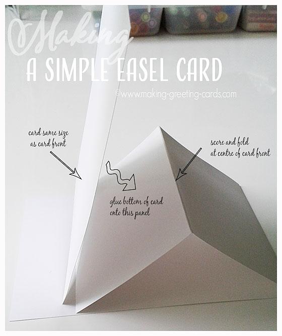 simple easel card technique