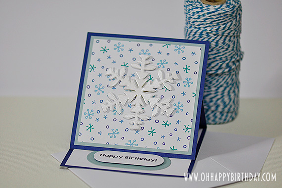 snowflake birthday card/Winter Blessings