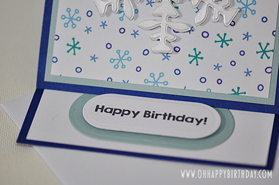 snowflake birthday card/Happy Birthday!