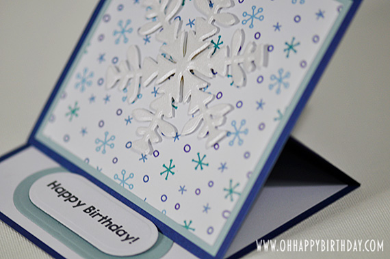 snowflake birthday card/Die Cut Snowflake