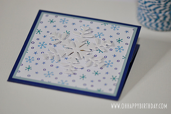 snowflake birthday card/Snowflake Birthday Card Closed Flat