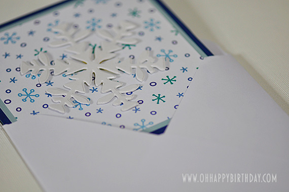 snowflake birthday card/Snowflake Birthday Card Inserted Into Envelope