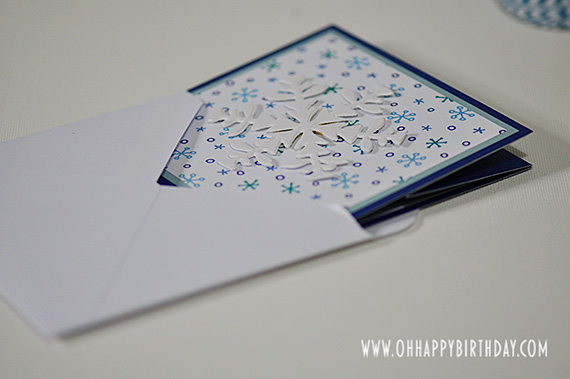 snowflake birthday card/Snowflake Birthday Card Ready To Post
