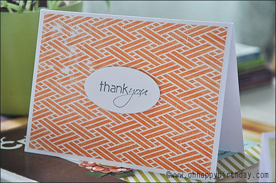 thank you cards 1/Orange Thank You Card