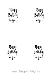 birthday card words template