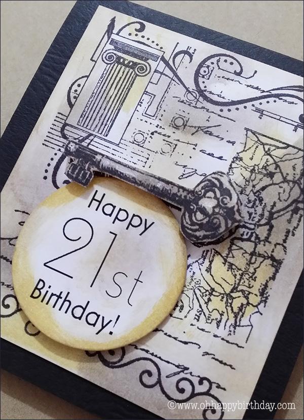 happy 21st birthday cards/Collage Birthday Card