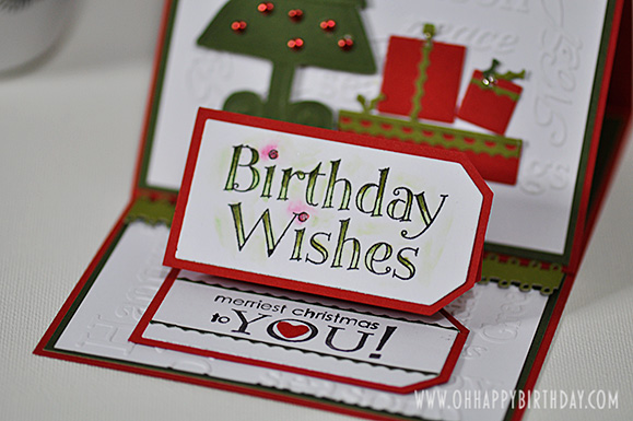 Birthday Wishes & Merriest Christmas in one card