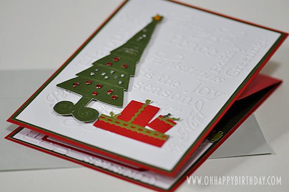 christmas birthday greeting card folded