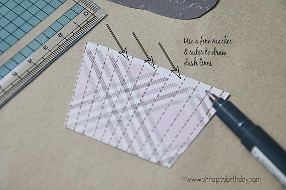 Making birthday card -drawing the cupcake liner
