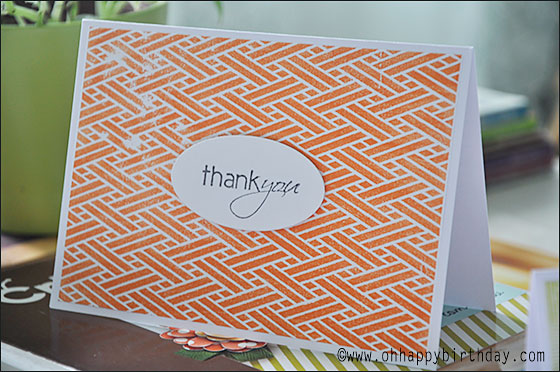 thank you cards 1/Orange Thank You Card